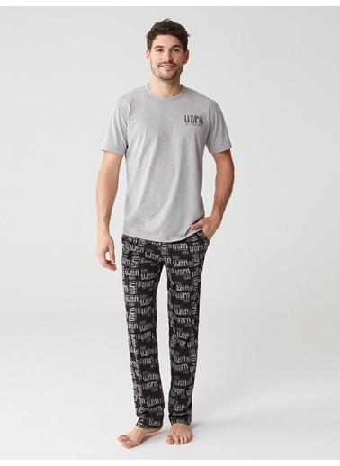 U.S. Polo Assn. Pijama Takım Gri